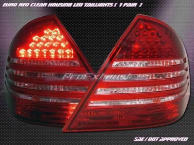 Headlights & Tail Lights - Led Tail Lights - Custom - W203 LED Tail Clear