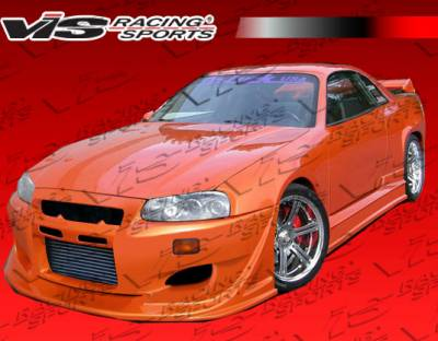 Skyline - Front Bumper - VIS Racing - Nissan Skyline VIS Racing Invader Front Bumper - 99NSR34GTRINV-001