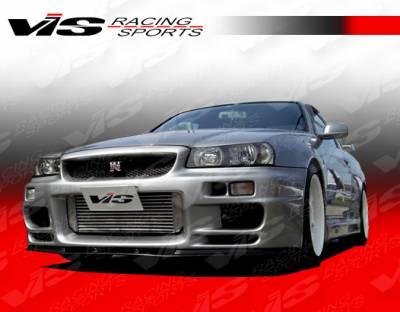 Skyline - Front Bumper - VIS Racing - Nissan Skyline VIS Racing Terminator Front Bumper - 99NSR34GTRTM-001