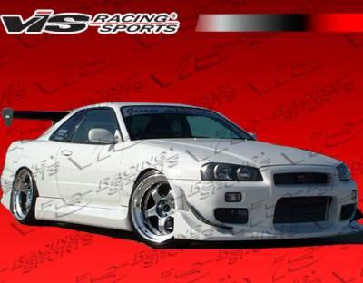 Skyline - Front Bumper - VIS Racing - Nissan Skyline VIS Racing Tracer Front Bumper - 99NSR34GTRTRA-001