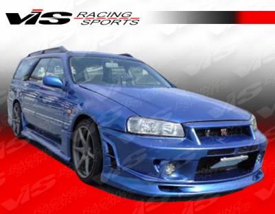 Skyline - Front Bumper - VIS Racing - Nissan Skyline VIS Racing Viper Front Bumper - 99NSR34GTRVR-001