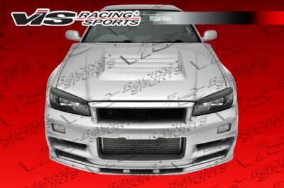 Skyline - Front Bumper - VIS Racing - Nissan Skyline VIS Racing V Spec Front Bumper - 99NSR34GTRVSC-001
