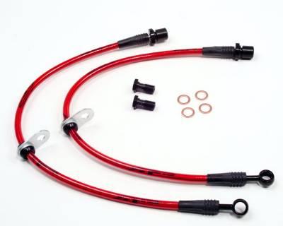 Agency Power - Subaru WRX Agency Power Steel Braided Brake Lines - Front - AP-GH-405 - Image 1