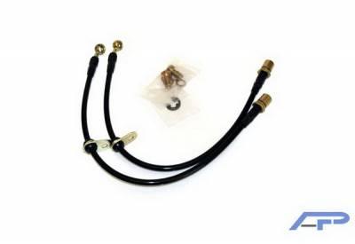 Brakes - Brake Lines - Agency Power - Subaru WRX Agency Power Steel Braided Brake Lines - Rear - AP-GH-410