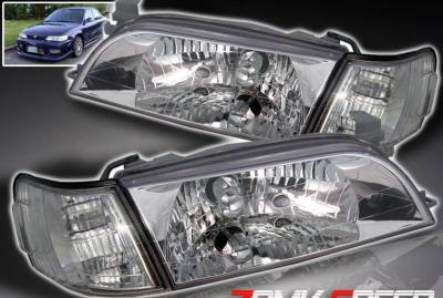 Headlights & Tail Lights - Headlights - Custom - Chrome Crystal Headlights Corner Combo