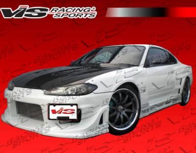 Silvia - Front Bumper - VIS Racing - Nissan Silvia VIS Racing Wave Front Bumper - 99NSS152DWAV-001