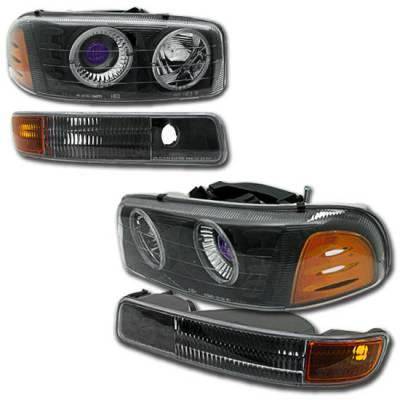 Headlights & Tail Lights - Headlights - Custom - Black Pro Headlights Combo