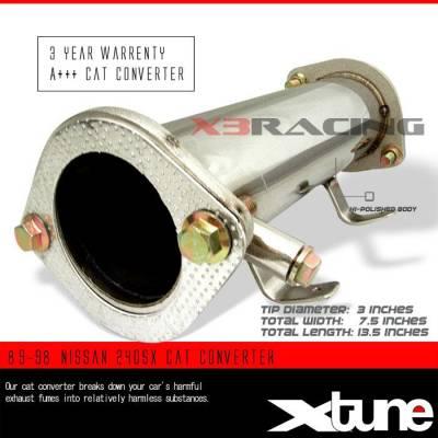 Exhaust - Universal Mufflers - Custom - 89-98 NISSAN 240SX CAT CONVERTER