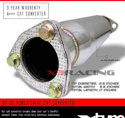 Exhaust - Universal Mufflers - Custom - 92-95 HONDA CIVIC CAT CONVERTER