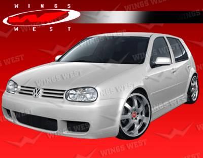 Golf - Front Bumper - VIS Racing - Volkswagen Golf VIS Racing JPC Type A Front Bumper - 99VWGOF2DJPCA-001