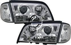 Headlights & Tail Lights - Headlights - Custom - Chrome Clear Pro Headlights With Corner