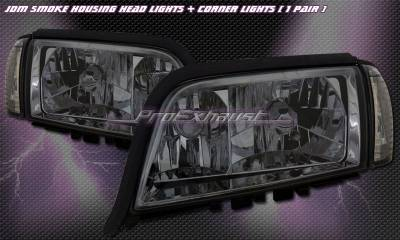 Headlights & Tail Lights - Headlights - Custom - JDM Smoke Headlights With Corner