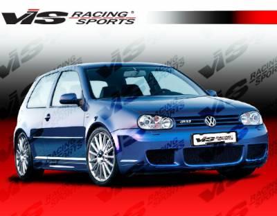 Golf - Front Bumper - VIS Racing - Volkswagen Golf VIS Racing R-32 Front Bumper - Polyurethane - 99VWGOF2DR32-001P