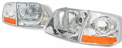 Headlights & Tail Lights - Headlights - Custom - Euro Clear Headlights With Corner