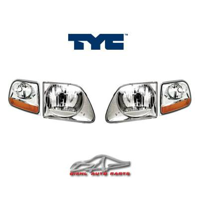 Headlights & Tail Lights - Headlights - Custom - Chrome Clear TYC Headlights With Corner