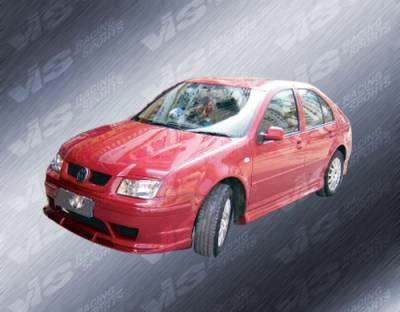 Jetta - Front Bumper - VIS Racing - Volkswagen Jetta VIS Racing Rabiat Front Bumper - 99VWJET4DRAB-001