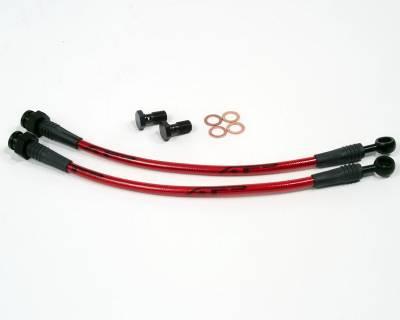 Brakes - Brake Lines - Agency Power - Nissan S13 Agency Power Steel Braided Brake Lines - Rear - AP-S13-410