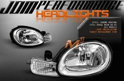 Headlights & Tail Lights - Headlights - Custom - Chrome Headlights With Corner