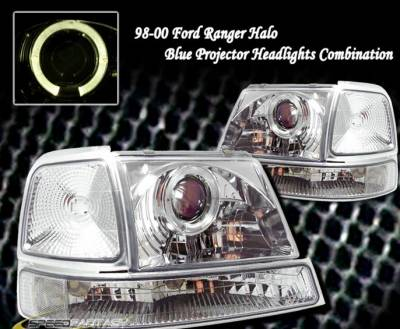 Headlights & Tail Lights - Headlights - Custom - Chrome Halo Pro Headlights With Corner