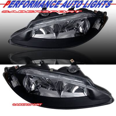 Headlights & Tail Lights - Headlights - Custom - Black Headlights - Amber Corners