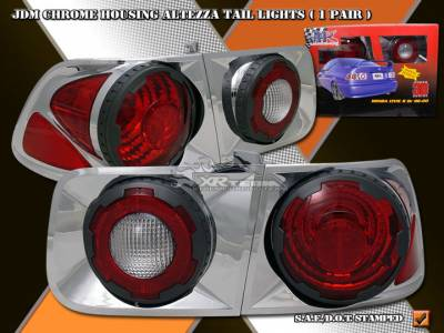 Headlights & Tail Lights - Tail Lights - Custom - Chrome Housing Altezza Taillights Coupe