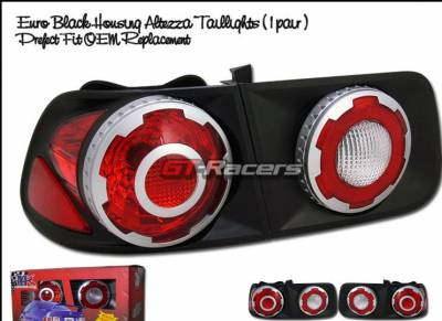 Headlights & Tail Lights - Tail Lights - Custom - Black Euro Taillights Coupe