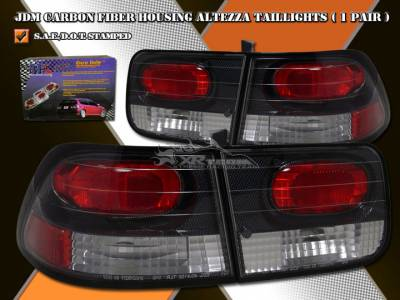 Headlights & Tail Lights - Tail Lights - Custom - Carbon Altezza Taillights Coupe