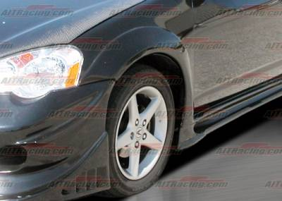 RSX - Fender Flares - AIT Racing - Acura RSX AIT Racing VS Style Fender Flares - Front - AX02HIVS2FFL