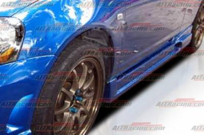RSX - Side Skirts - AIT Racing - Acura RSX AIT Racing I-spec Style Side Skirts - AX05HIINGSS