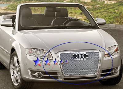 Grilles - Custom Fit Grilles - APS - Audi A4 APS Wire Mesh Grille - Upper - Stainless Steel - B75521T