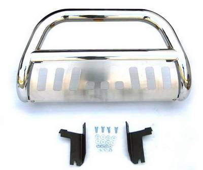 Grilles - Grille Guard - 4 Car Option - Mitsubishi Raider 4 Car Option Stainless Steel Bull Bar - BB-DG-0102