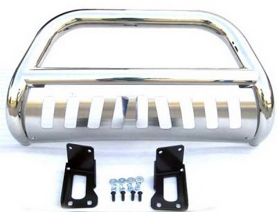 Grilles - Grille Guard - 4 Car Option - Ford Superduty 4 Car Option Stainless Steel Bull Bar - BB-FD-0080