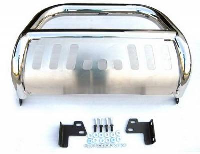 Grilles - Grille Guard - 4 Car Option - Nissan Frontier 4 Car Option Stainless Steel Bull Bar - BB-NS-0129