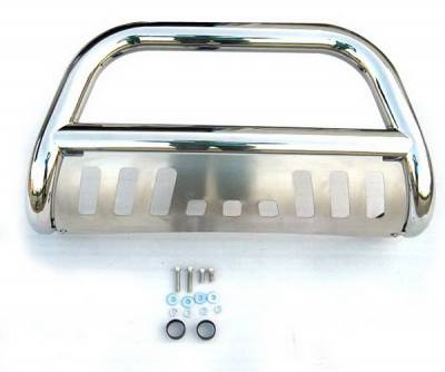 Grilles - Grille Guard - 4 Car Option - Nissan Titan 4 Car Option Stainless Steel Bull Bar - BB-NS-0130