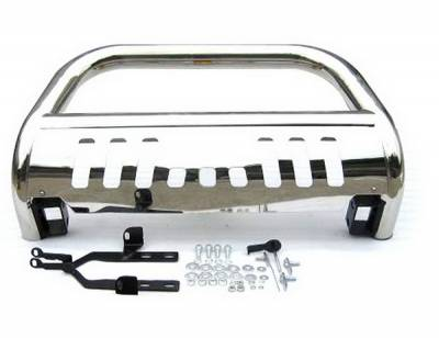 Grilles - Grille Guard - 4 Car Option - Toyota Highlander 4 Car Option Stainless Steel Bull Bar - BB-TY-0250