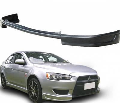 Lancer - Front Bumper - 4 Car Option - Mitsubishi Lancer 4 Car Option Polyurethane Front Bumper Lip Spoiler - BLFP-ML08T-PU