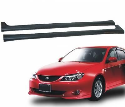 Impreza - Side Skirts - 4 Car Option - Subaru Impreza 4 Car Option Polyurethane Side Skirts - BLS-SI08T-PU