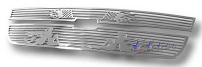 Grilles - Custom Fit Grilles - APS - Chevrolet Colorado APS Symbolic Grille - Upper - Aluminum - C25747B