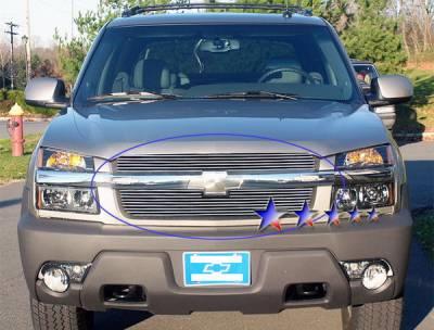 Grilles - Custom Fit Grilles - APS - Chevrolet Avalanche APS Billet Grille - Upper - Aluminum - C65329A