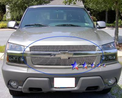 Grilles - Custom Fit Grilles - APS - Chevrolet Avalanche APS Billet Grille - Upper - Aluminum - C65329V