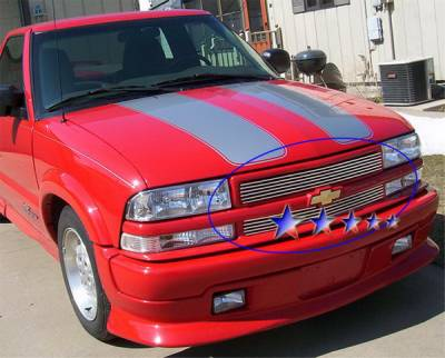 Grilles - Custom Fit Grilles - APS - Chevrolet S10 APS Billet Grille - Criss Cross Style - Upper - Stainless Steel - C65705S
