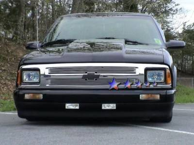 Grilles - Custom Fit Grilles - APS - Chevrolet S10 APS Billet Grille - Upper - Aluminum - C65716A