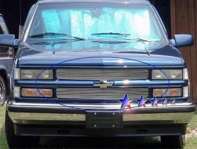 Grilles - Custom Fit Grilles - APS - Chevrolet CK Truck APS Billet Grille - 8 Bar - Upper - Aluminum - C65735A