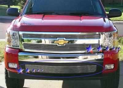 Grilles - Custom Fit Grilles - APS - Chevrolet Silverado APS Billet Grille - Bumper - Aluminum - C65767A