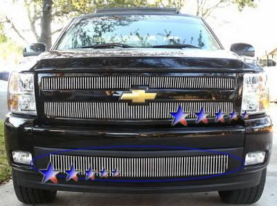 Grilles - Custom Fit Grilles - APS - Chevrolet Silverado APS Billet Grille - Bumper - Aluminum - C65767V