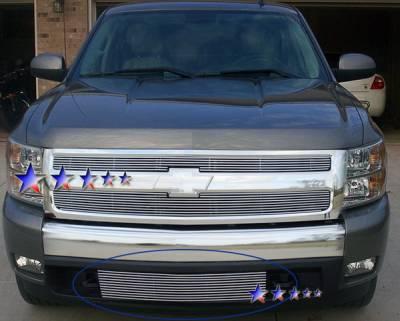 Grilles - Custom Fit Grilles - APS - Chevrolet Silverado APS Billet Grille - Bumper - Aluminum - C65785A