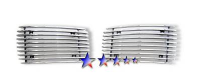 Grilles - Custom Fit Grilles - APS - Chevrolet Silverado APS Billet Grille - Fog Light Area - Aluminum - C66024A