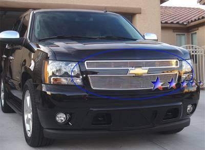 Grilles - Custom Fit Grilles - APS - Chevrolet Avalanche APS Billet Grille - Upper - Aluminum - C66451A
