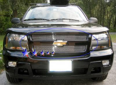 Grilles - Custom Fit Grilles - APS - Chevrolet Trail Blazer APS Billet Grille - Upper - Stainless Steel - C66465S