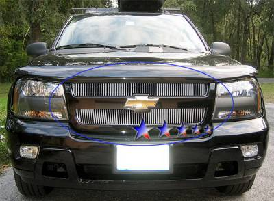 Grilles - Custom Fit Grilles - APS - Chevrolet Trail Blazer APS Billet Grille - Upper - Aluminum - C66465V